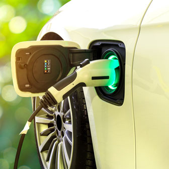 charging the batteries of an electric car