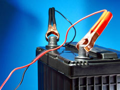 lead acid battery with charging cables